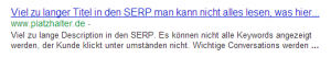 Description in den SERP - SEO