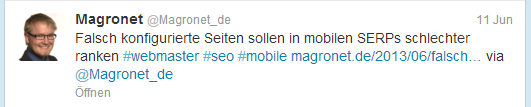 Hashtag bei Twitter