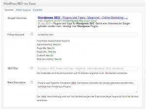 Wordpress SEO - Plugins und Tipps