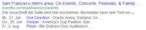Schema Veranstaltungen Ansicht in den Suchergebnissen