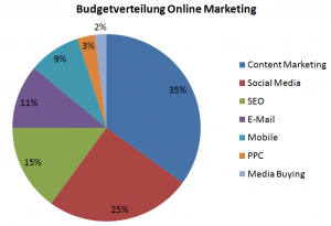 Online Marketing Budgetverteilung 2013