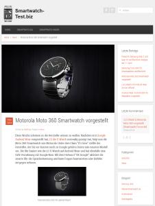 Nischenseiten Content Motorola Moto 360