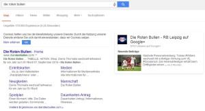 Google+ Vorschau in der Suche