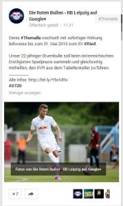 RB Leipzig auf Google+