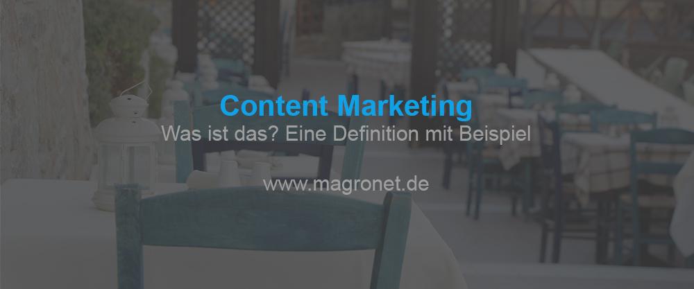 Content Marketing - Definition mit Beispiel