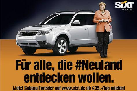 Sixt Werbung zum Thema #Neuland