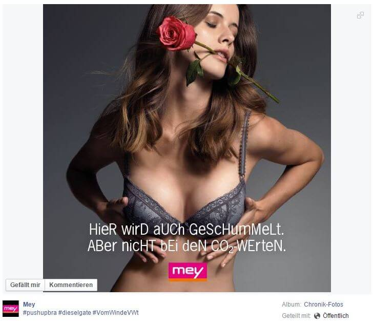 Agiles Marketing auf Facebook durch die Marke Mey
