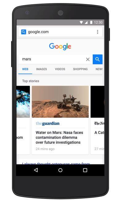 Google AMP Seiten im Preview
