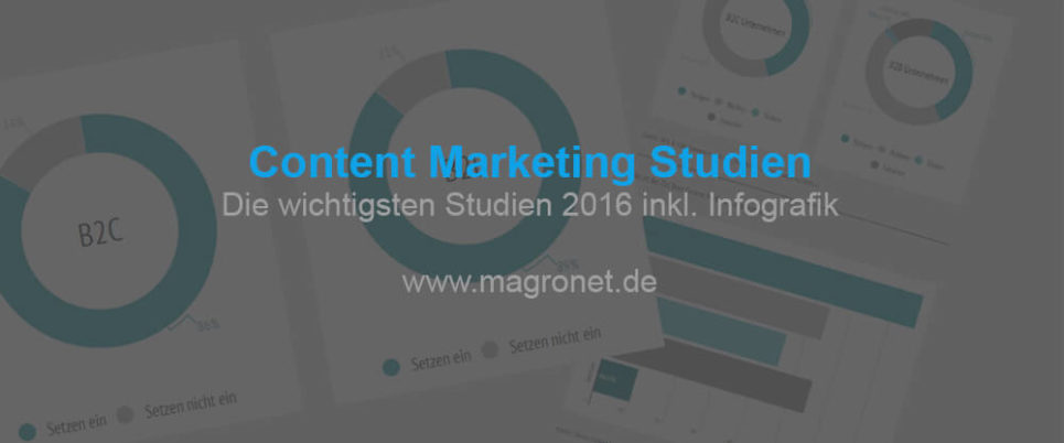 Die wichtigsten Content Marketing Studien 2016 (Update 2017)
