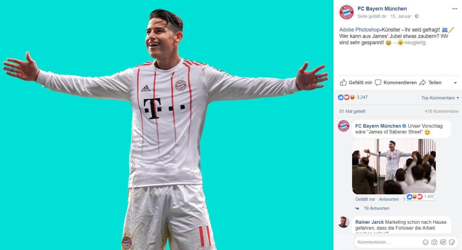 Mehr Reichweite auf Facebook durch User Generated Content wie beim FC Bayern